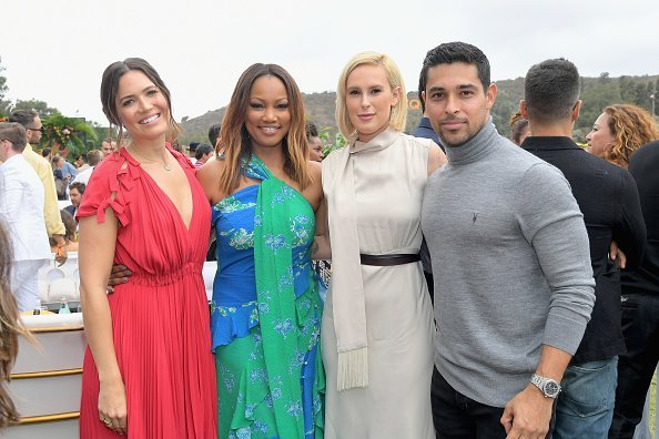 Mandy Moore, Garcelle Beauvais, Rumer Willis, and Wilmer Valderrama attend the Ninth-Annual Veuve Clicquot Polo Classic Los Angeles at Will Rogers State Historic Park on October 6, 2018, in Pacific Palisades, California. | Source: Getty Images.
