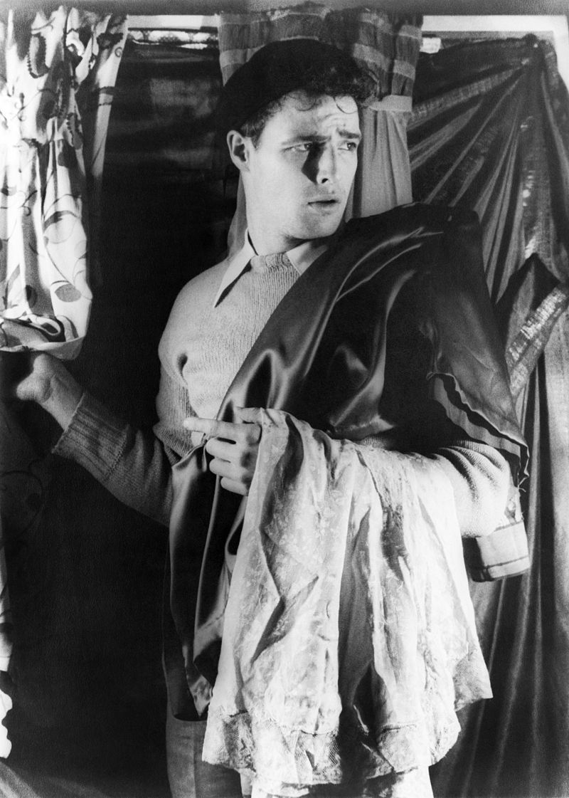 """Marlon Brando on the set of the Broadway production of """"A Streetcar Named Desire"""" 