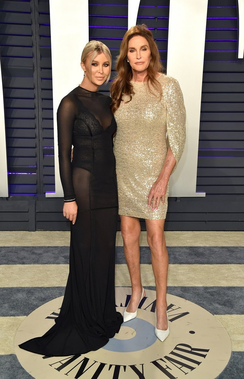 Caitlyn Jenner and Sophia Hutchins attend the 27th annual Elton John AIDS Foundation Academy Awards Viewing Party Celebrating EJAF And The 91st Academy Awards on February 24, 2019 at the City of West Hollywood Park in West Hollywood, California. | Photo: Getty Images