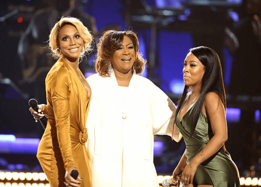 Tamar Braxton, Patti LaBelle, and K Michelle perform onstage during the BET Awards on June 28, 2015, in Los Angeles, California | Source: Getty Images (Photo by Michael Tran/FilmMagic)