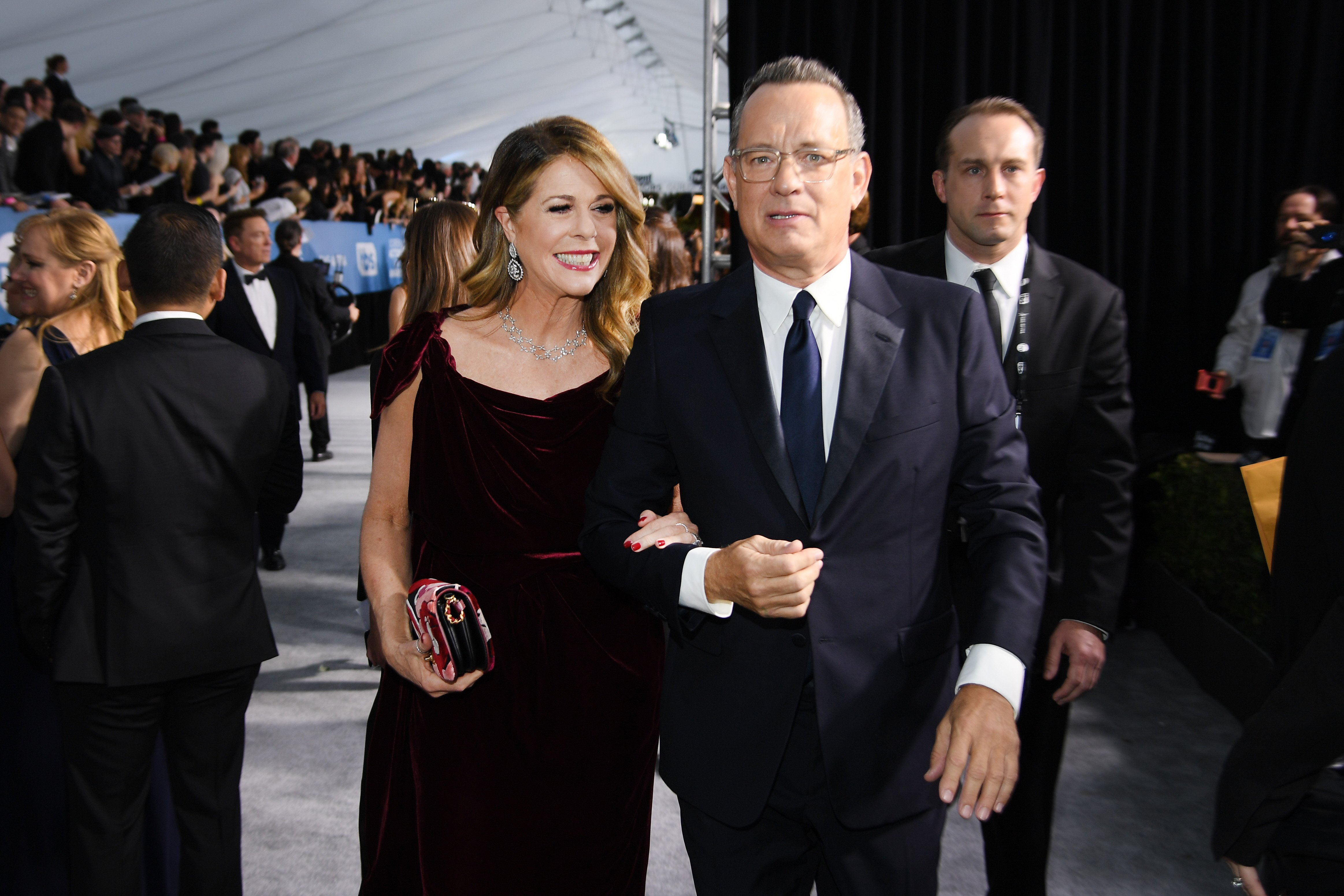 Rita Wilson and Tom Hanks attend the 26th Annual Screen Actors Guild Awards at The Shrine Auditorium on January 19, 2020 in Los Angeles, California | Photo: GettyImages