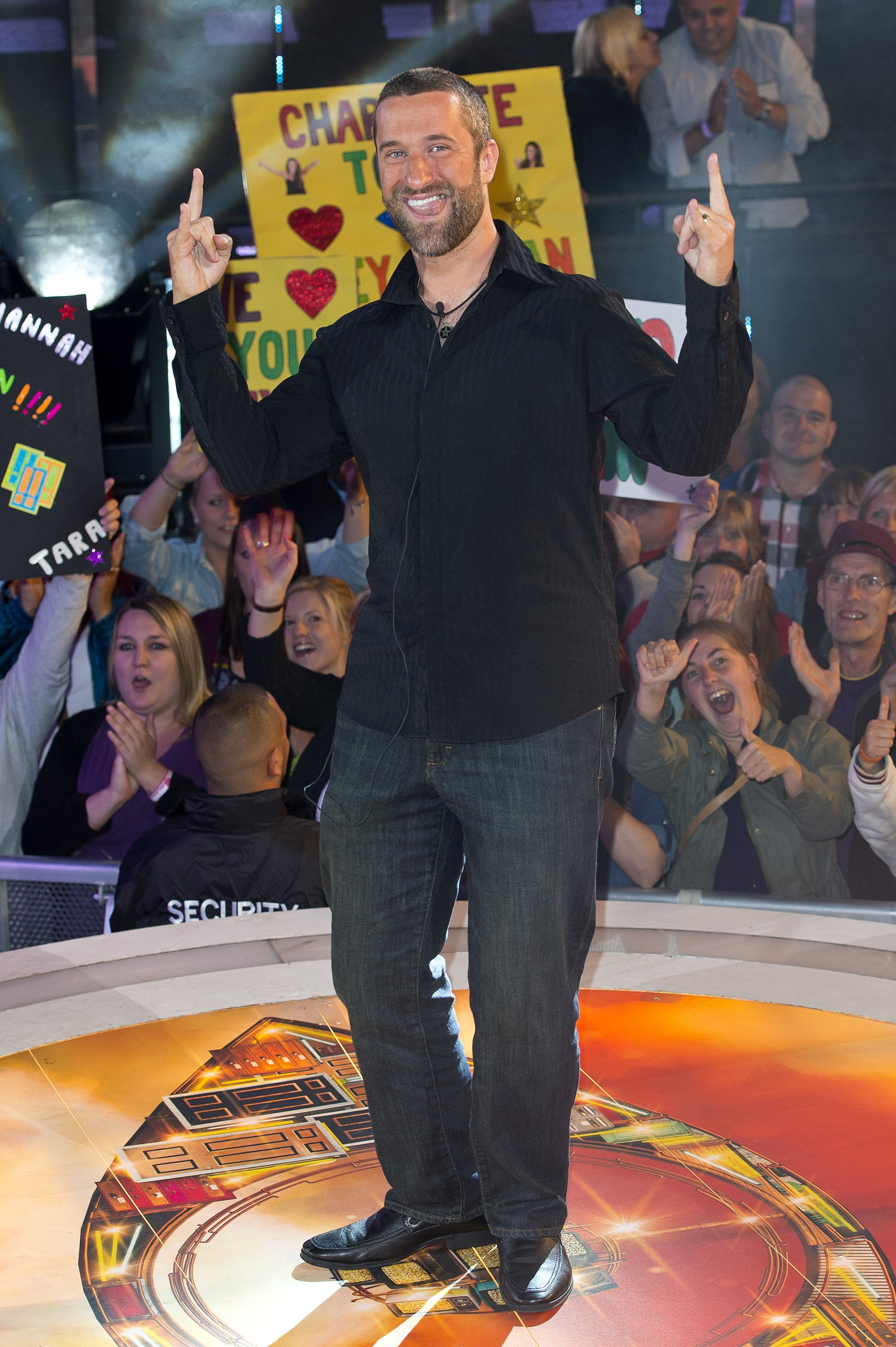 """Dustin Diamond at his eviction ceremony from """"The Celebrity Big Brother"""" house, England, September 2013 