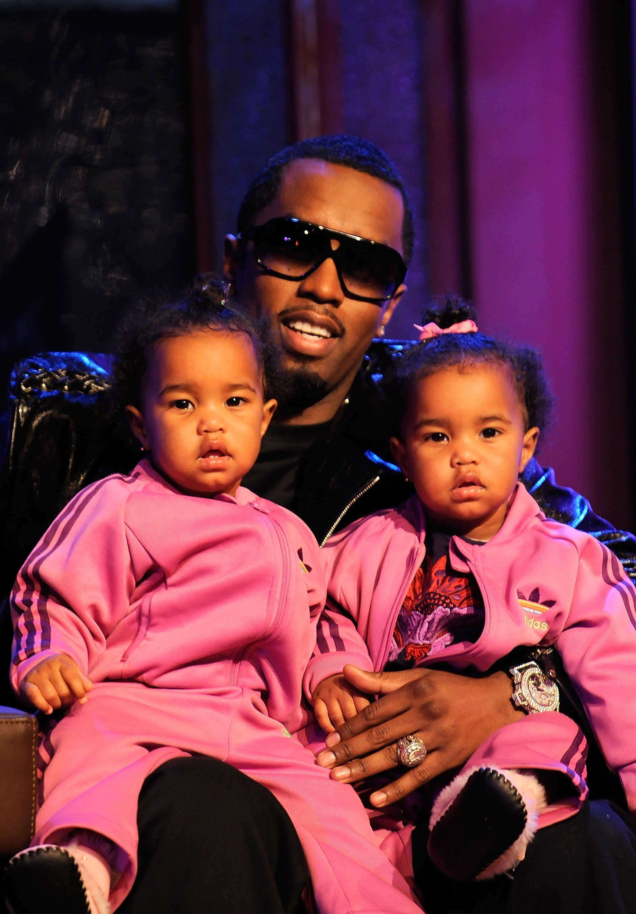 """Sean Combs with D'Lila and Jessie Combs at the taping of MTV's """"Making The Band 4"""" season finale at MTV Studios Times Square on March 22, 2008 in New York City. 