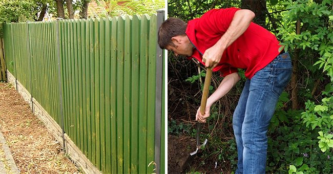 Daily Joke: A Man Looks over His Fence and Sees His Neighbor Digging a Hole in the Backyard