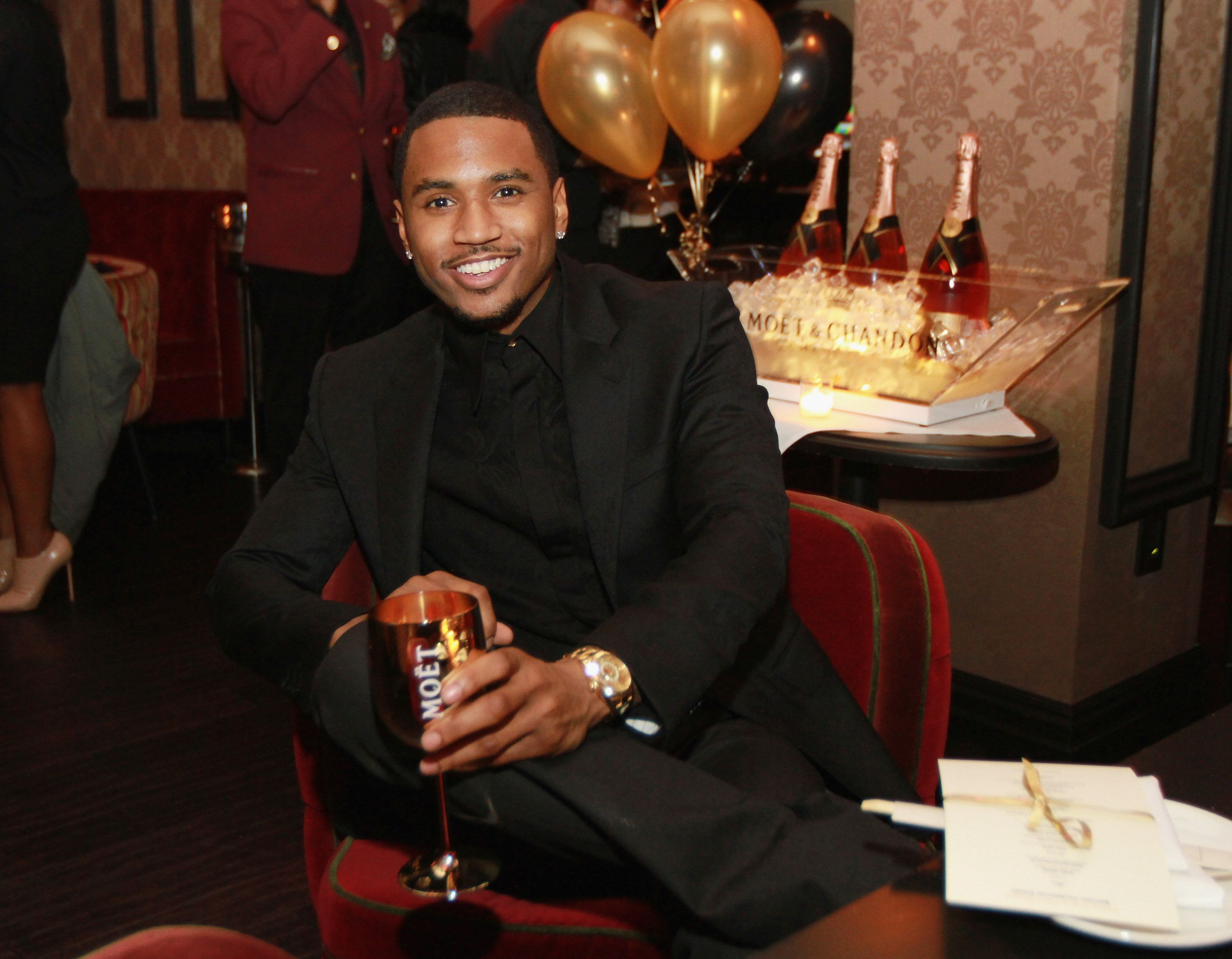 Trey Songz at his and Fabolous' birthday dinner at Cherry on November 22, 2013   Photo: Getty Images