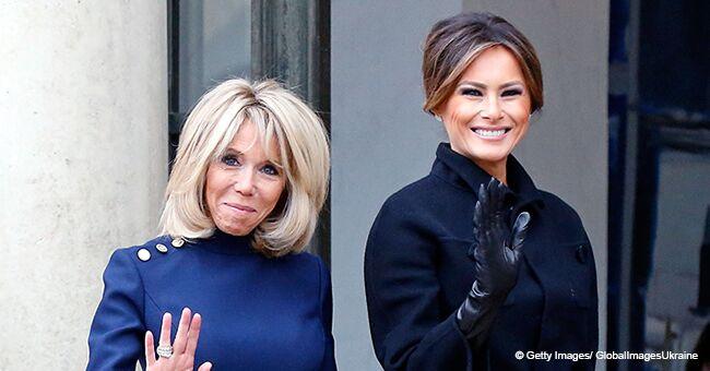 Le choix de vêtements de Brigitte Macron critiqué en comparaison avec Melania Trump
