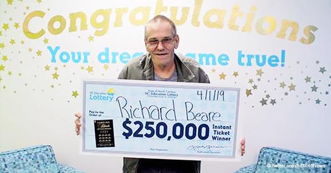 Hombre con cáncer en etapa IV gana $250.000 en la lotería para cumplir el sueño de su esposa