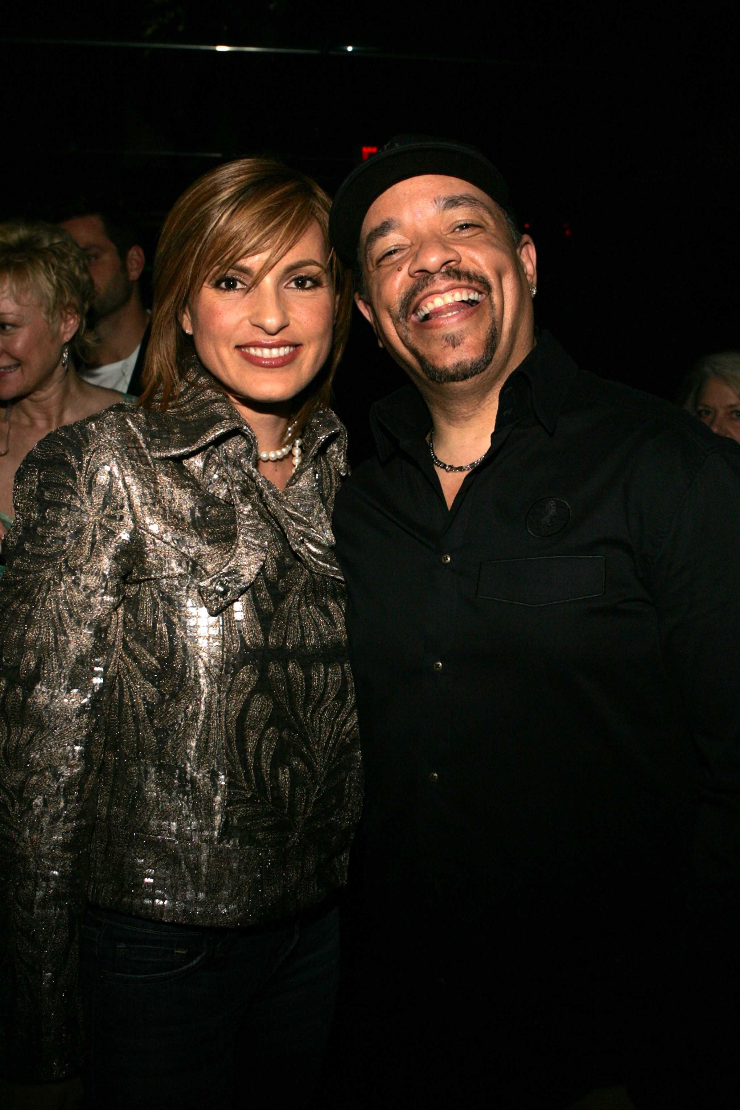 """Ice-T and """"Law & Order: Special Victims Unit"""" costar Mariska Hargitay in 2005 