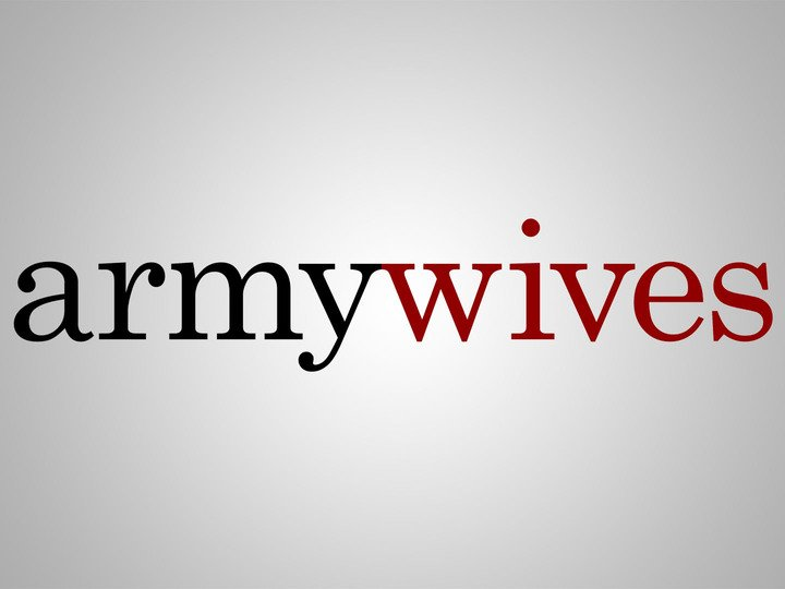 """Graphic showing the logo of TV Series """"Army Wives"""". 
