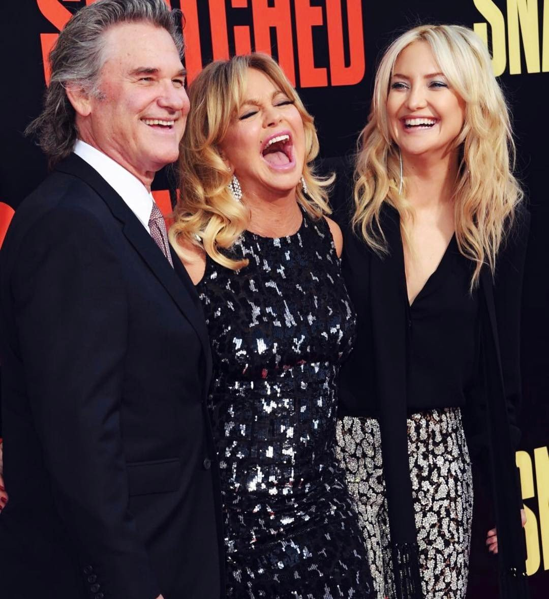 "Kurt Russell, Goldie Hawn and Kate Hudson pictured at the Premiere Of 20th Century Fox's ""Snatched"" held at Regency Village Theatre, 2017, California. 