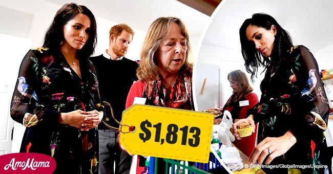 Meghan saluda a sus pequeños fans desafiando el frío con vestido de $1.813 en salida con Harry