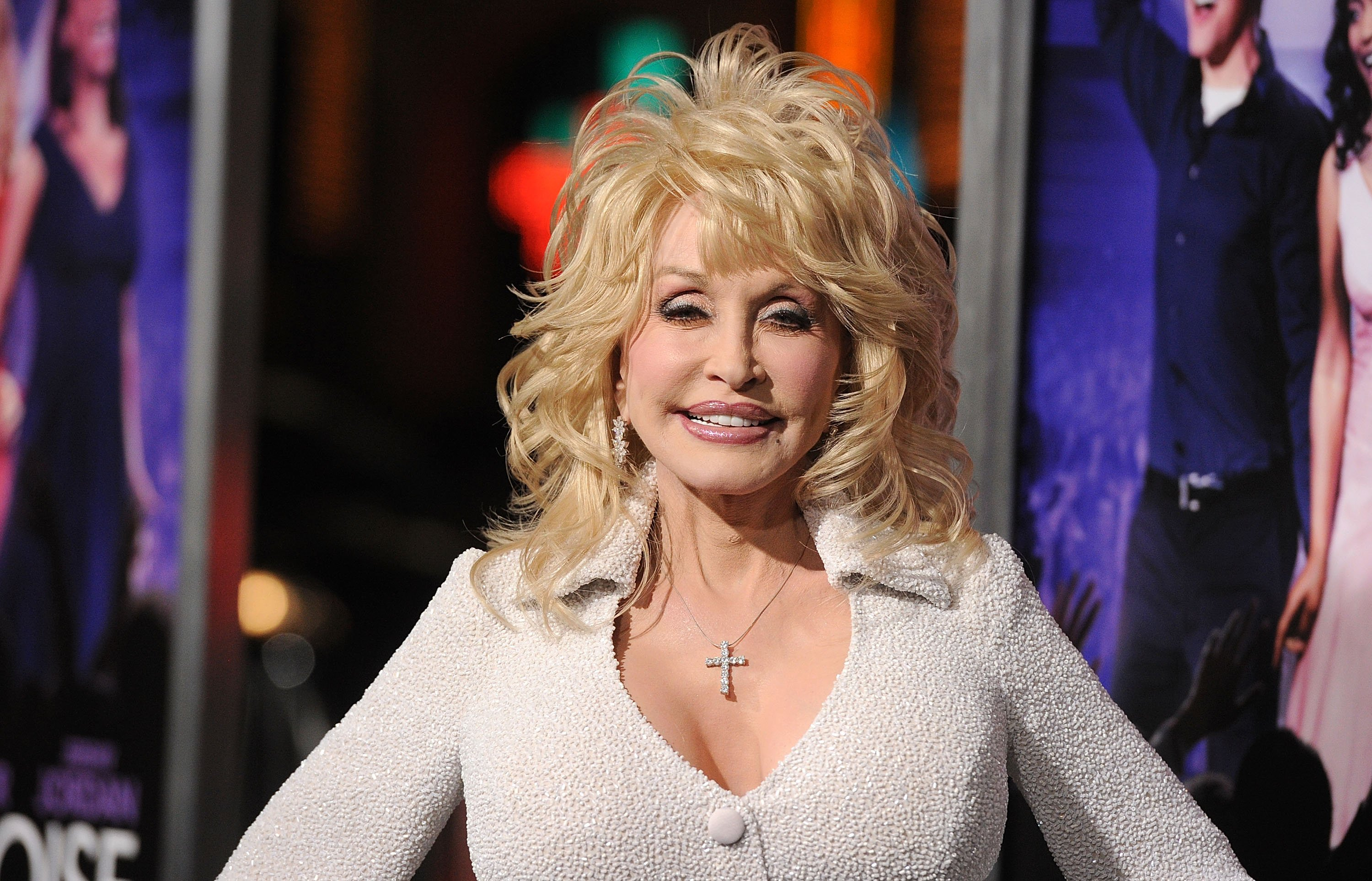 """Country music icon and actress Dolly Parton attends the 2012 premiere of """"Joyful Noise"""" in Grauman's Chinese Theatre in California. 