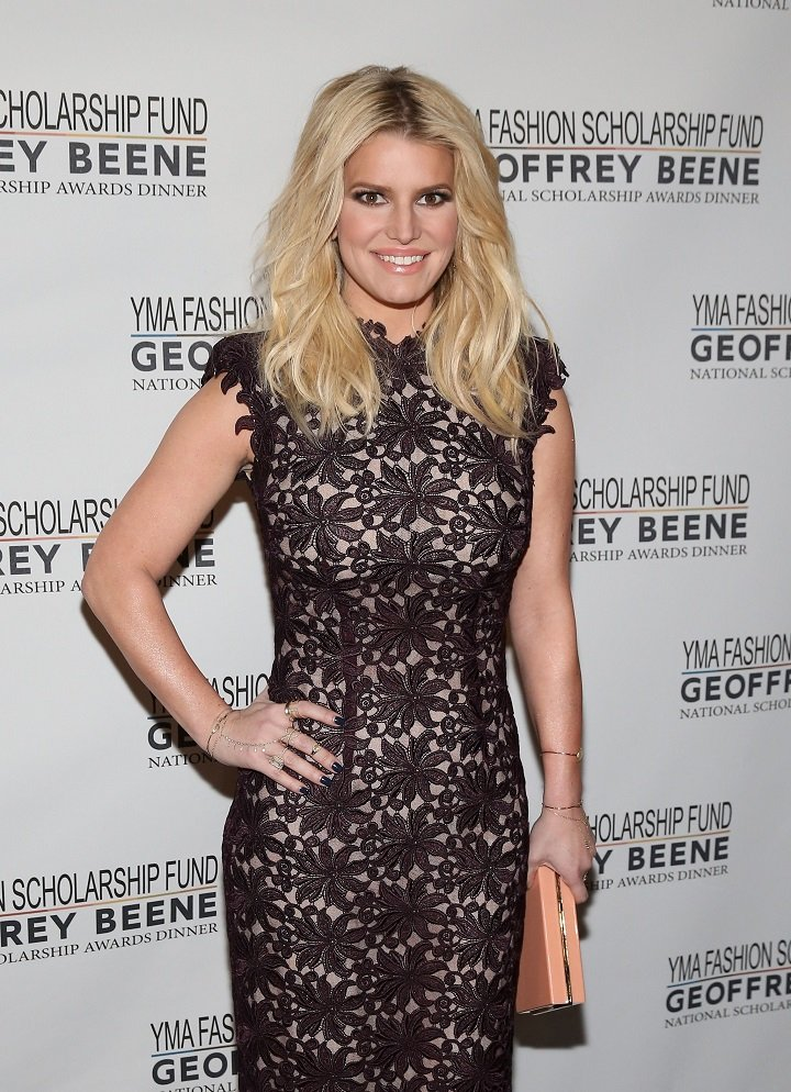 Jessica Simpson attending the YMA Fashion Scholarship Fund Geoffrey Beene National Scholarship Awards Gala at Marriott Marquis Hotel in New York City in January 2016.   Image: Getty Images.