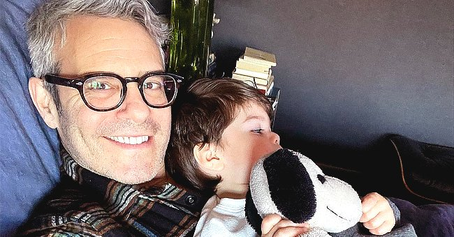 Andy Cohen Shares an Adorable Selfie Cuddling with His Son Benjamin in the Morning — See Photo