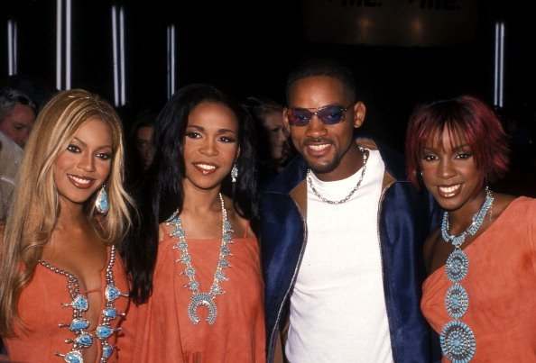Beyonce Knowles, Michelle Williams and Kelly Rowland of Destiny's Child and actor Will Smith attend the 18th Annual MTV Video Music Awards | Photo: Getty Images