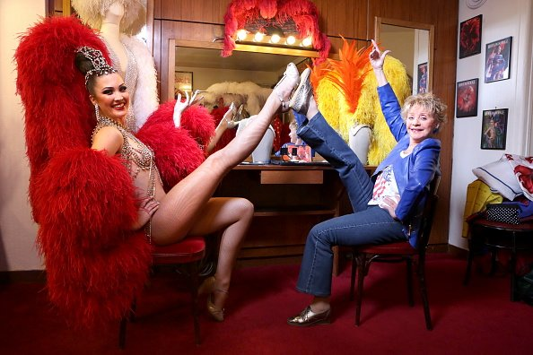 Annie Cordy, 86, poses backstage at the Moulin Rouge on January 16, 2015 in Paris, France.  Photo: Getty Images