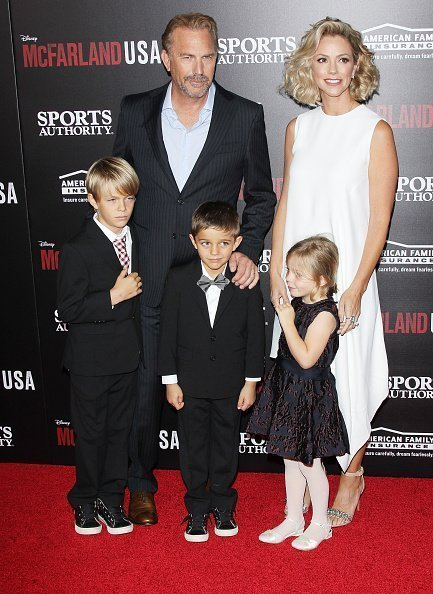 """Kevin Costner and his family at the premiere of """"McFarland, USA"""" at the El Capitan Theatre on February 9, 2015 in Hollywood, California. Source: Getty Images"""