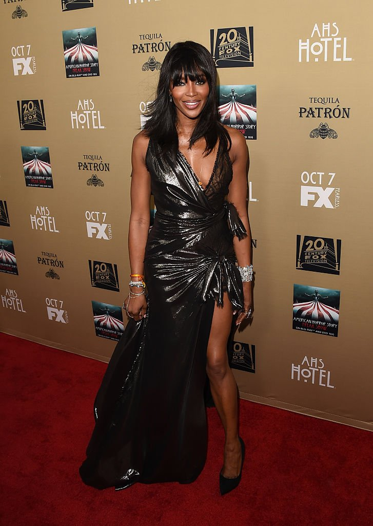 "Naomi Campbell at the premiere of FX's ""American Horror Story: Hotel"" on October 3, 2015 