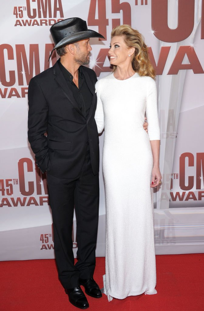 Tim McGraw and Faith Hill on the red carpet of the 45th annual CMA Awards, 2011, Nashville, Tennessee.   Photo: Getty Images