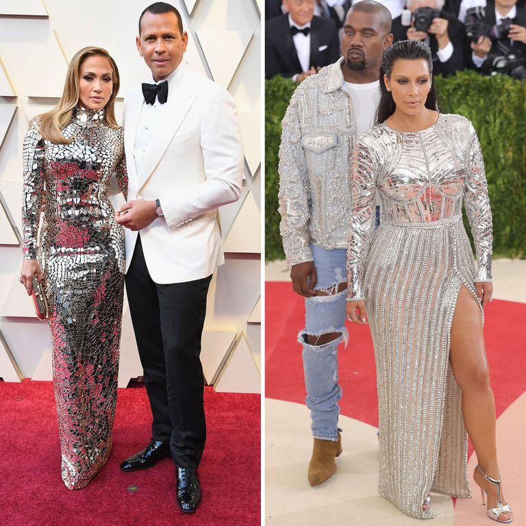Algunos comparan el traje de JLo con uno que usó Kim Kardashian en 2016. | Foto: Getty Images