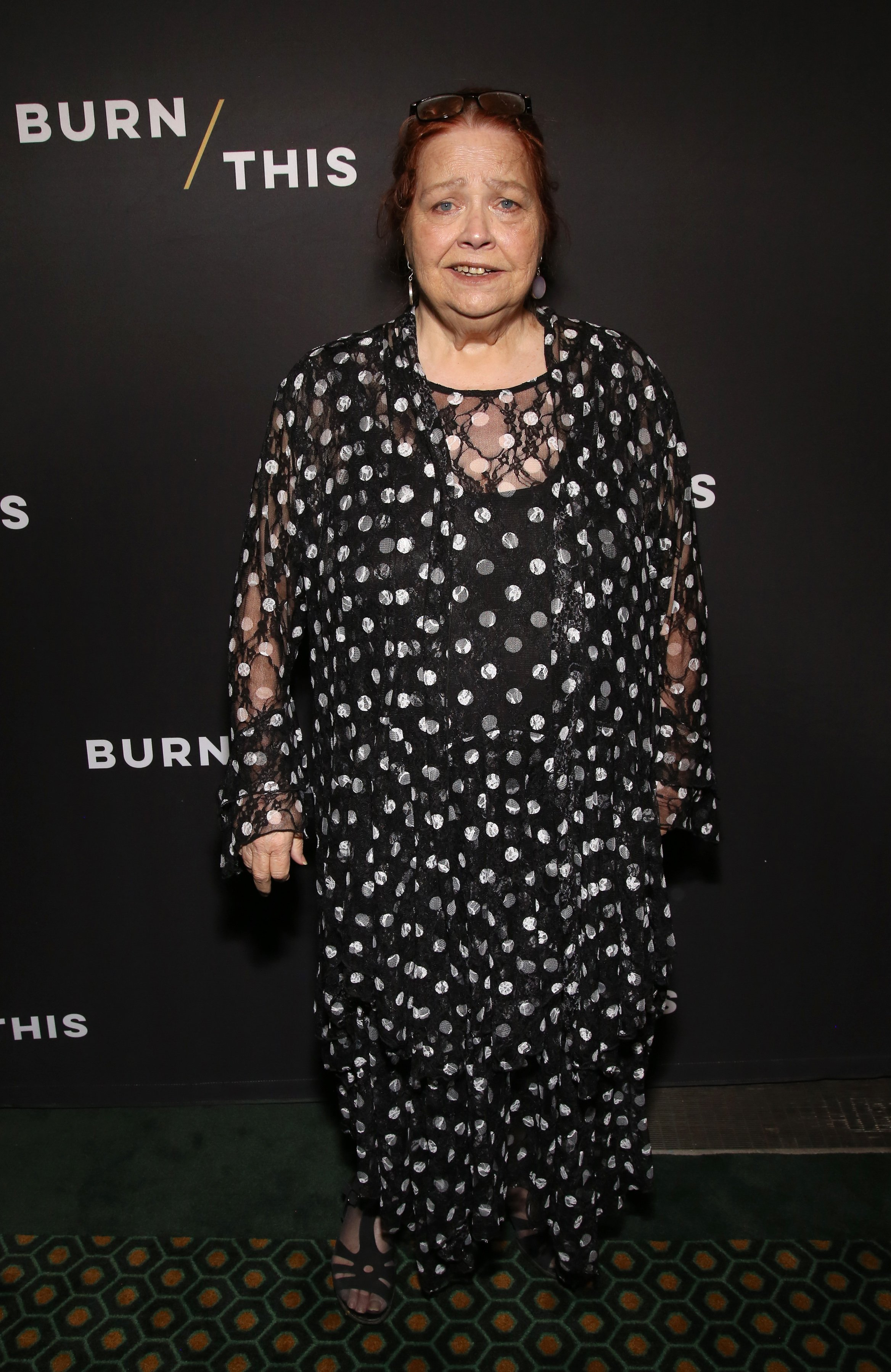 """Conchata Ferrell attends the opening night of """"Burn This"""" in New York City on April 15, 2019 