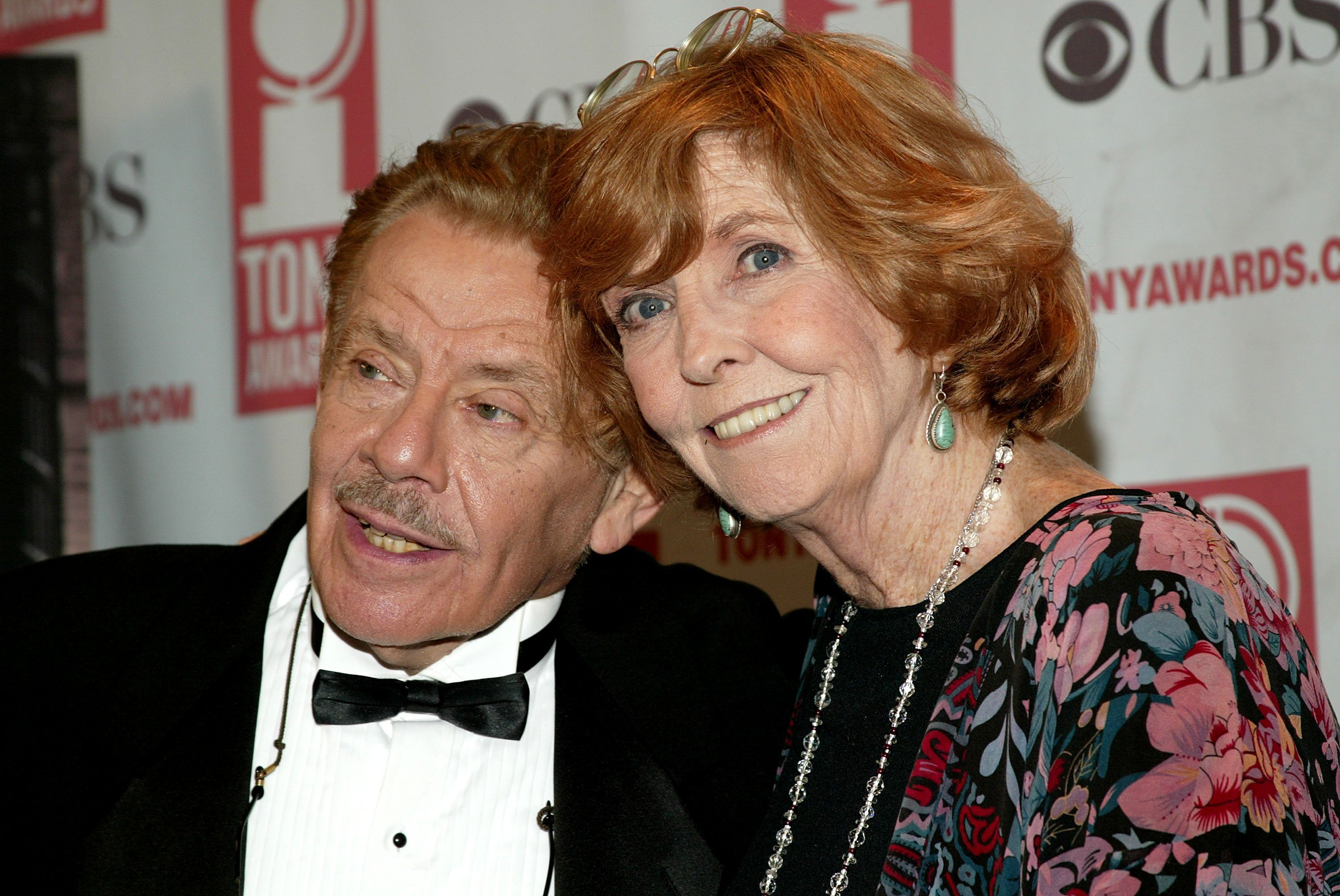 "Comedians Jerry Stiller and Anne Meara attend the ""58th Annual Tony Awards"" on June 6, 2004. 