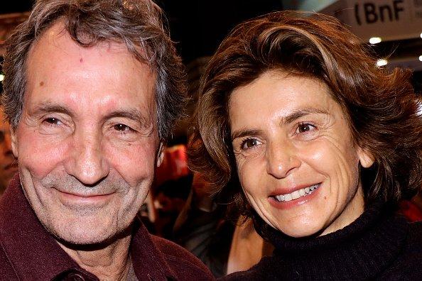 Jean-Jacques Bourdin et  Anne Nivat posent au Salon du livre de Paris 2018   Photo : Gettyimage