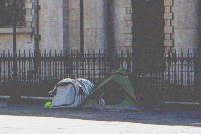 Two tents for homeless people   Photo: Shutterstock