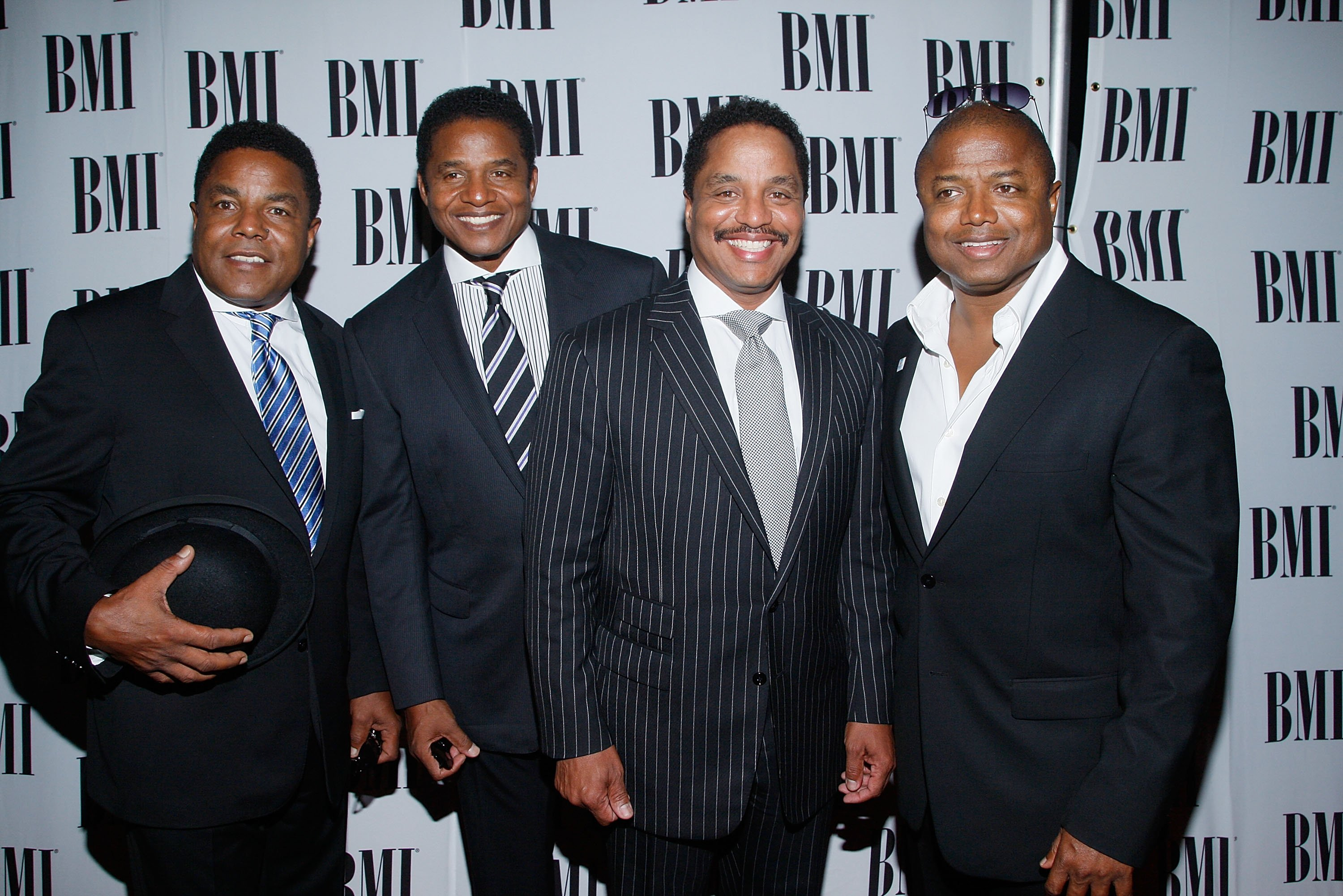 Brothers Tito, Jackie, Marlon and Randy Jackson arrive at the 8th Annual BMI Urban Awards at the Wishire Theatre on September 4, 2008, in Los Angeles, California. | Source: Getty Images.