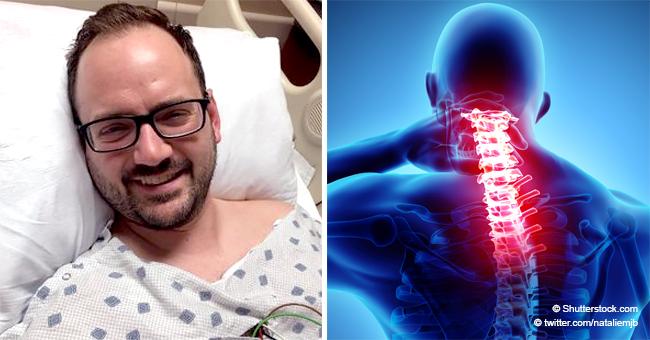 """Cet homme souffre d'un """" AVC majeur """" après s'être étiré un peu fort le cou"""
