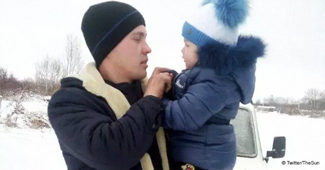 """Kleinkind ertrinkt, nachdem Papa sie zur """"Unterhaltung"""" über einen gefrorenen Fluss mitnimmt"""