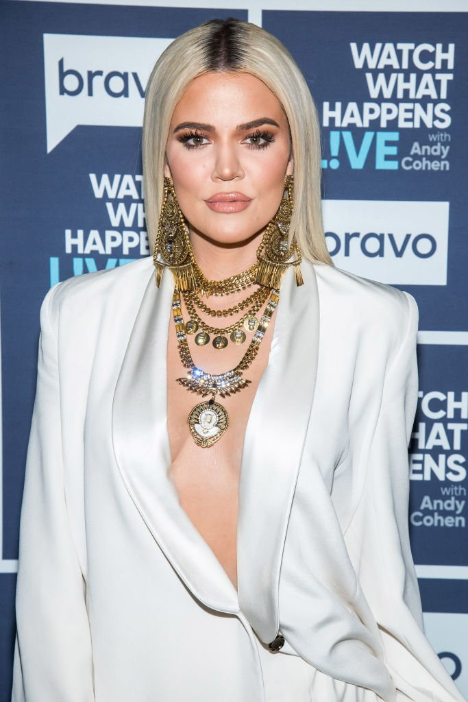 """""""KUWTK"""" star Khloe Kardashian during her 2019 TV guesting with Andy Cohen in """"Watch What Happens LIve With Andy Cohen"""" in New York City. 