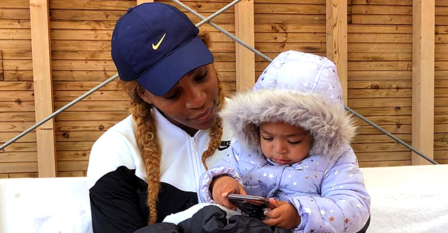 Serena Williams Shares Adorable Photo of Daughter Olympia Sleeping under a 'Moana Blanket' While Mom Works