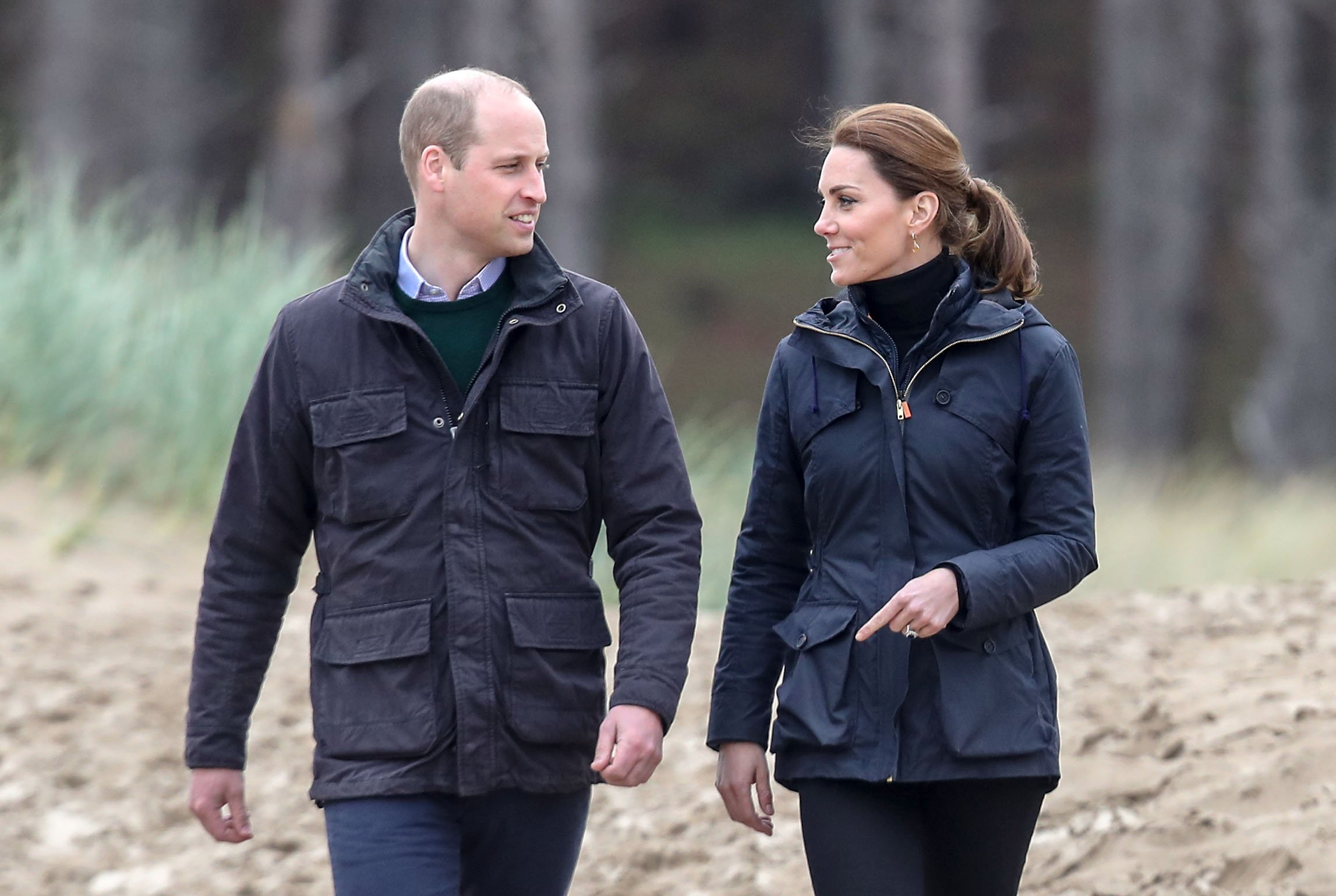 Prince William and Duchess Kate on a visit to Newborough Beach during a visit to North Wales on May 08, 2019 in the United Kingdom | Photo: Getty Images