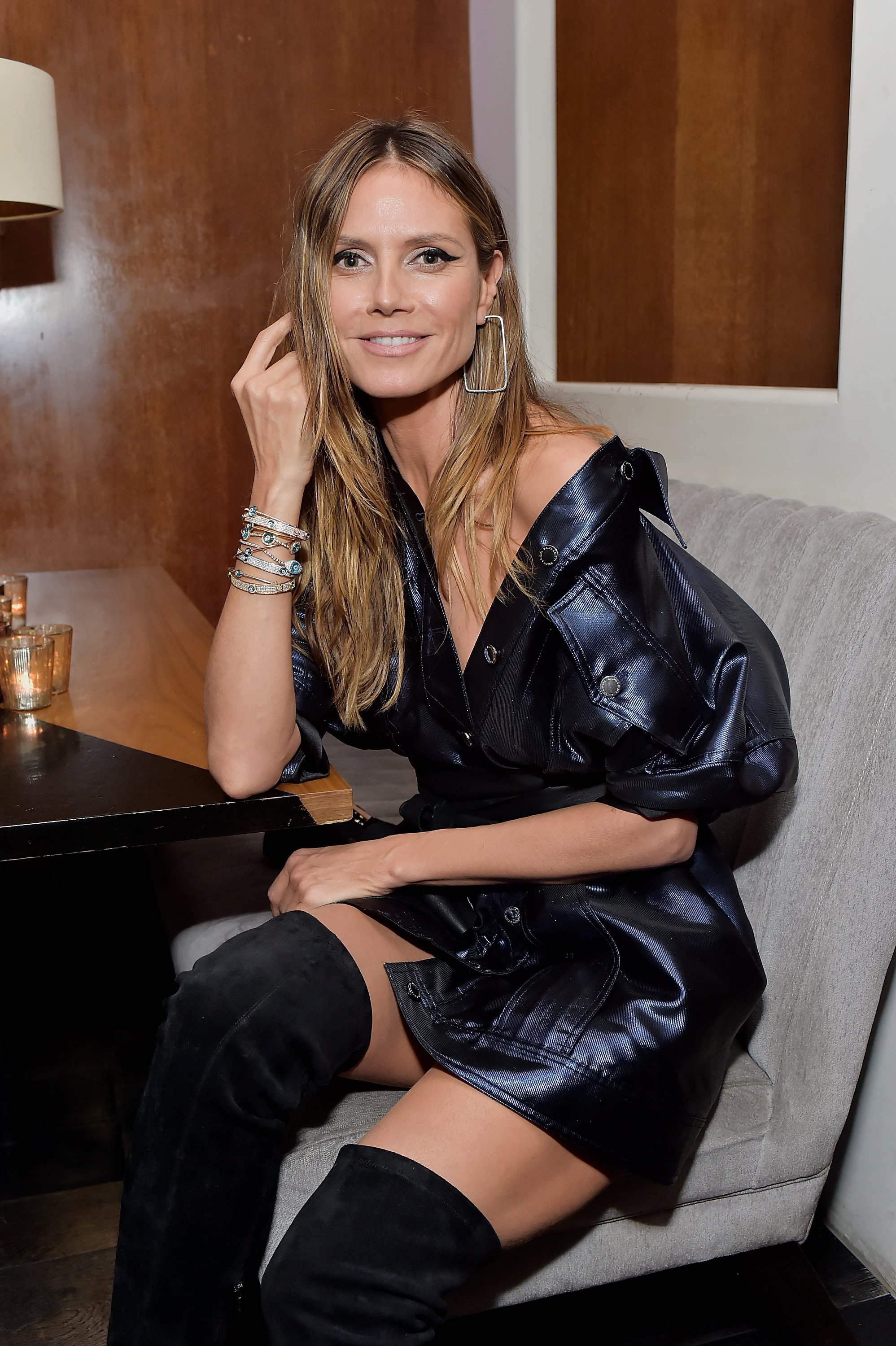 Heidi Klum attending the launching of Lorraine Schwartz's The Eye Bangle, a new addition to her signature Against Evil Eye Collection at Delilah in West Hollywood, California | Photo: Stefanie Keenan/Getty Images for Lorraine Schwartz