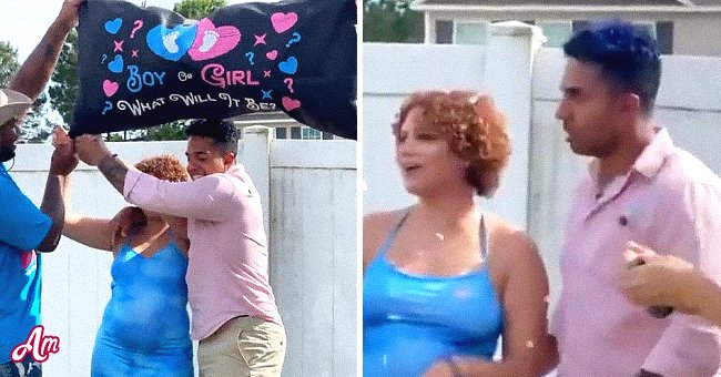Couple at gender reveal party.   Photo: Reddit/habichuelacondulce