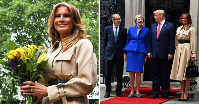 Melania Trump Stuns in Classy Beige Coat but All Eyes Are on Her $60k Leather Bag