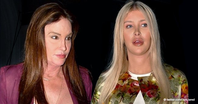 Caitlyn Jenner Spotted in a Dazzling Well-Cut Vinous Pant Suit with Companion Sophia Hutchins, 22