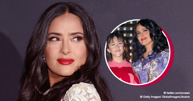 Salma Hayek's daughter makes a rare appearance with mom and she looks so grown up