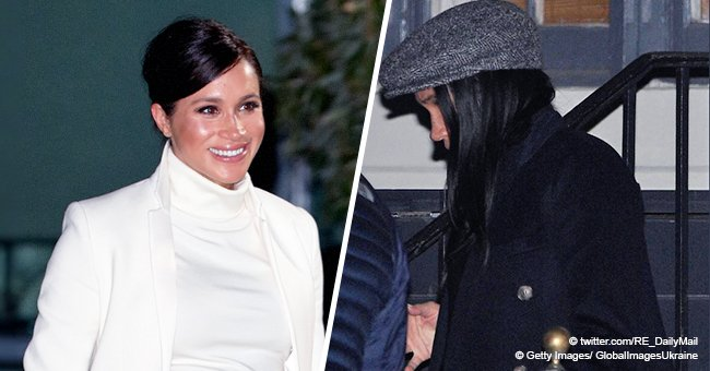 Photos of pregnant Meghan Markle on her surprise visit to the US finally spotted in the media
