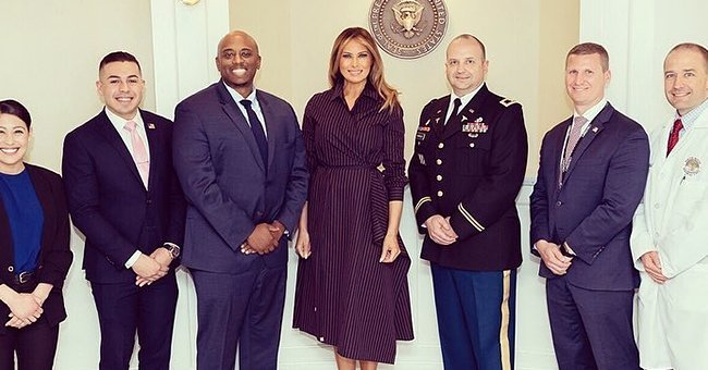 First Lady Melania Trump at the Walter Reed National Military Medical Center | Photo: Instagram/flotus