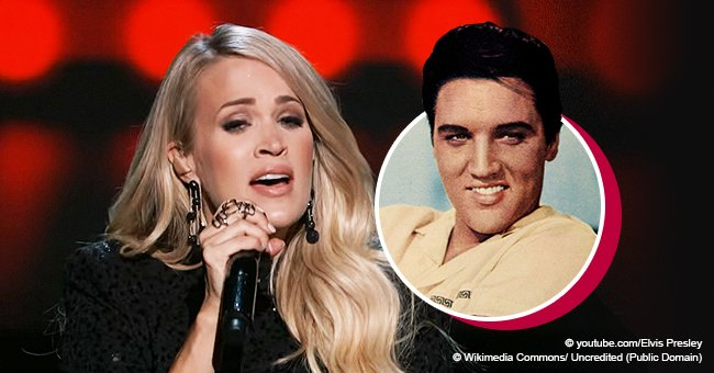 Carrie Underwood stuns while performing a moving rendition of an Elvis Presley hit