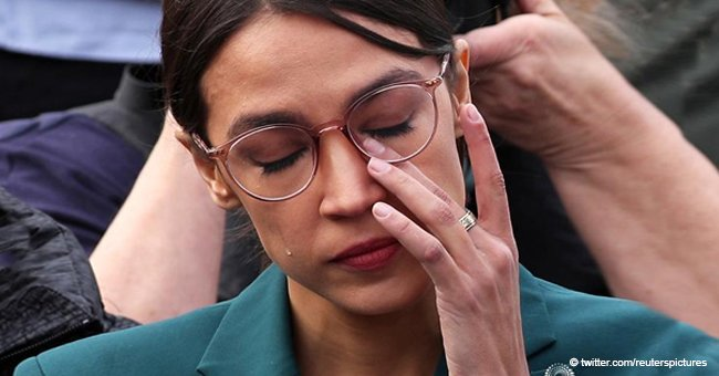 Ocasio-Cortez can't hold back tears saying 'the President doesn't like any form of immigration'