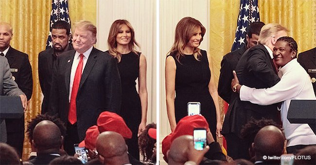 Melania Trump Turns Heads in a Tight Black Dress at a Reception for Black History Month