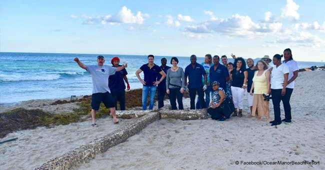 Huge wooden cross that washed up on Florida beach gathers a crowd. Is it a sign from the Lord?