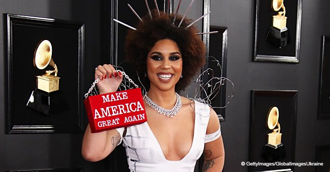 'He's not racist at all': Joy Villa defends Trump after her 'build the wall' dress went viral