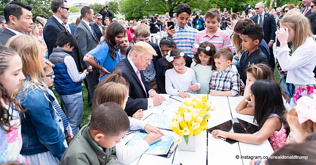 President Trump Tells a Child at the Easter Egg Roll That the Border Wall Is 'Being Built Now'