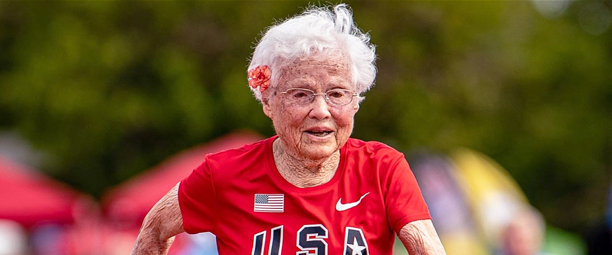 Julia Hawkins, 103, Gets Nicknamed 'Hurricane' after Winning Gold for the 100-Meter Dash