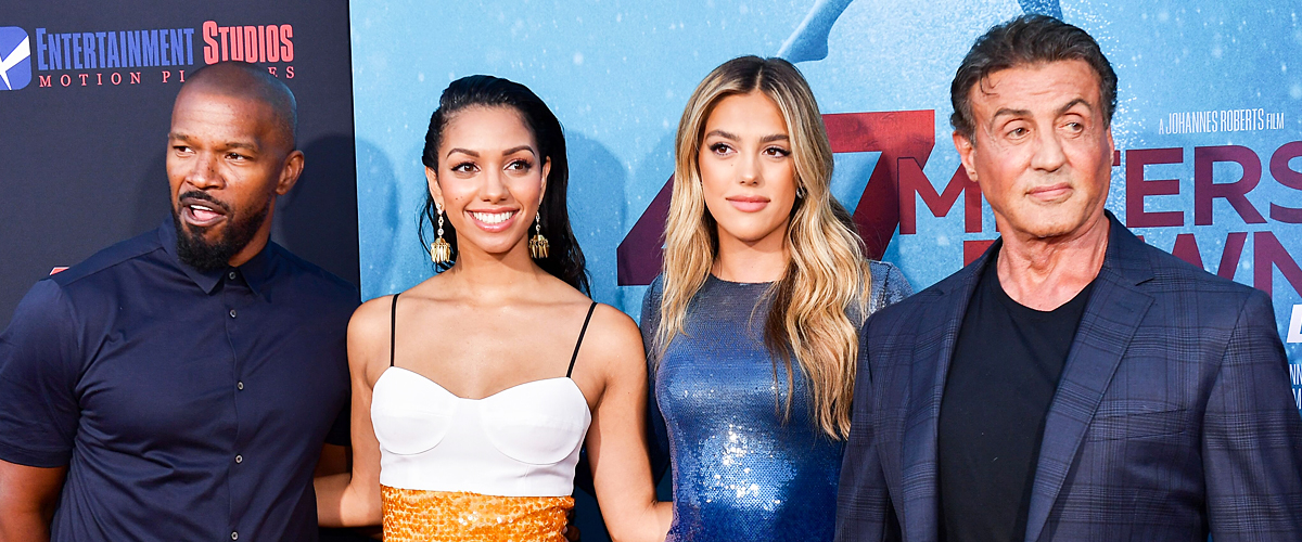 Jamie Foxx and Sylvester Stallone Supported Their Grown-up Daughters at '47 Meters Down: Uncaged' Premiere
