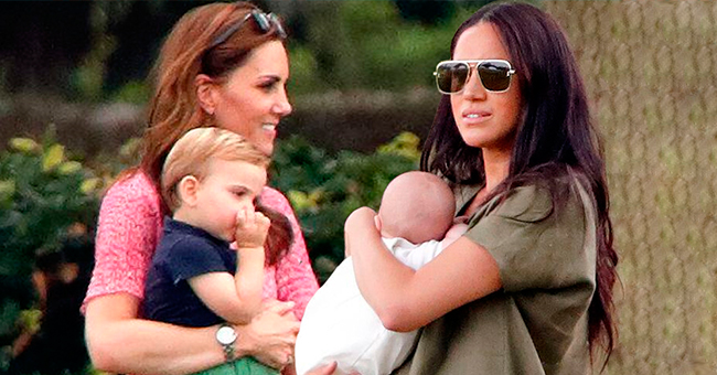 Meghan Markle & Baby Archie Join Kate Middleton at Their Husbands' Charity Polo Match